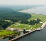 Pictured: Aerial shot of Santee Dam