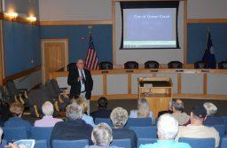 Pictured: Mayor Heitzler addresses the audience.