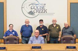 Photo: Joining Mayor Heitzler at the June 14 signing are local Amateur Radio operators (l-r) Linda Selleck, Steve Lamendola, Tom Lufkin, Ken Curtis and David Merritt.